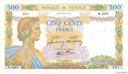500 Francs LA PAIX FRANCE  1942 F.32.26 pr.SPL
