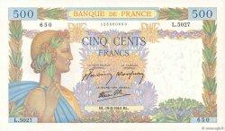 500 Francs LA PAIX FRANCE  1942 F.32.31 TTB+