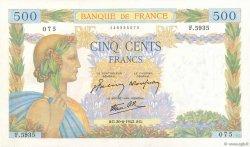 500 Francs LA PAIX FRANCE  1942 F.32.35 pr.SUP