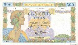 500 Francs LA PAIX FRANCE  1942 F.32.35 TTB+