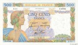 500 Francs LA PAIX FRANCE  1942 F.32.40 SUP
