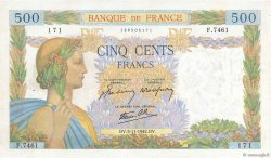 500 Francs LA PAIX FRANCE  1942 F.32.43 pr.TTB