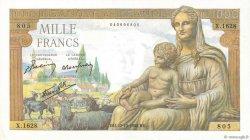 1000 Francs DÉESSE DÉMÉTER FRANCE  1942 F.40.09 SUP+