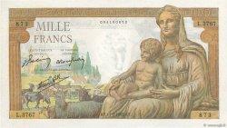 1000 Francs DÉESSE DÉMÉTER FRANCE  1943 F.40.18 pr.SPL