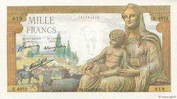 1000 Francs DÉESSE DÉMÉTER FRANCE  1943 F.40.19 SPL