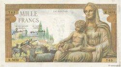 1000 Francs DÉESSE DÉMÉTER FRANCE  1943 F.40.24 TTB