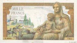 1000 Francs DÉESSE DÉMÉTER FRANCE  1943 F.40.25 pr.SUP