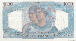 1000 Francs MINERVE ET HERCULE FRANCE  1945 F.41.07 SPL