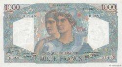 1000 Francs MINERVE ET HERCULE FRANCE  1947 F.41.18 SUP+