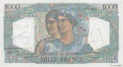 1000 Francs MINERVE ET HERCULE FRANCE  1949 F.41.29 pr.NEUF