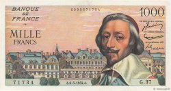 1000 Francs RICHELIEU FRANCE  1954 F.42.05 pr.SPL