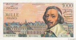 1000 Francs RICHELIEU FRANCE  1955 F.42.14 SUP