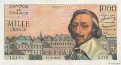 1000 Francs RICHELIEU FRANCE  1955 F.42.17 TTB+