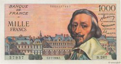 1000 Francs RICHELIEU FRANCE  1956 F.42.21 pr.SPL