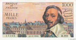 1000 Francs RICHELIEU FRANCE  1956 F.42.24 SUP+