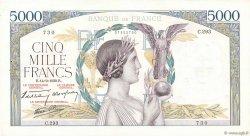 5000 Francs VICTOIRE Impression à plat FRANCE  1939 F.46.10 pr.SUP