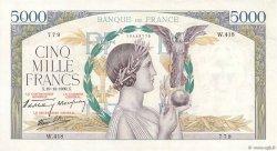 5000 Francs VICTOIRE Impression à plat FRANCE  1939 F.46.15 pr.SUP