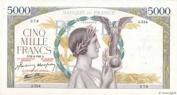 5000 Francs VICTOIRE Impression à plat FRANCE  1941 F.46.20 TTB+