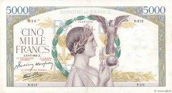 5000 Francs VICTOIRE Impression à plat FRANCE  1941 F.46.23 TTB