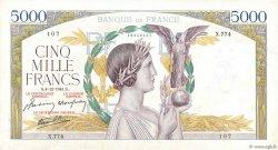 5000 Francs VICTOIRE Impression à plat FRANCE  1941 F.46.30 pr.SUP