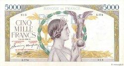 5000 Francs VICTOIRE Impression à plat FRANCE  1941 F.46.30 TTB+