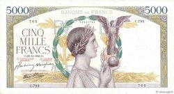 5000 Francs VICTOIRE Impression à plat FRANCE  1941 F.46.31 TTB