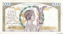 5000 Francs VICTOIRE Impression à plat FRANCE  1942 F.46.42 TTB