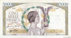 5000 Francs VICTOIRE Impression à plat FRANCE  1943 F.46.48 pr.SUP