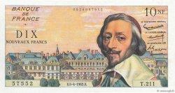 10 Nouveaux Francs RICHELIEU FRANCE  1962 F.57.18 SUP