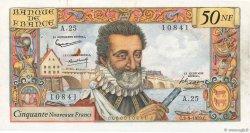 50 Nouveaux Francs HENRI IV FRANCE  1959 F.58.03 pr.SUP