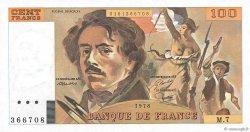 100 Francs DELACROIX modifié FRANCE  1978 F.69.01d pr.NEUF