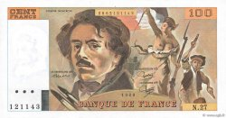 100 Francs DELACROIX modifié FRANCE  1980 F.69.04a NEUF