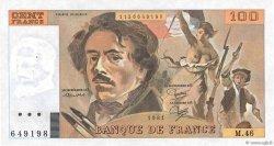 100 Francs DELACROIX modifié FRANCE  1981 F.69.05 AU