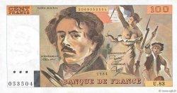 100 Francs DELACROIX modifié FRANCE  1984 F.69.08a pr.SPL