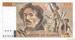100 Francs DELACROIX modifié FRANCE  1986 F.69.10 SPL