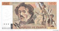 100 Francs DELACROIX modifié FRANCE  1988 F.69.12