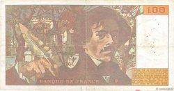 100 Francs DELACROIX imprimé en continu FRANCE  1990 F.69bis.02a TB