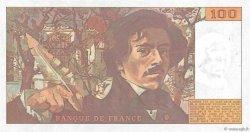 100 Francs DELACROIX imprimé en continu FRANCE  1990 F.69bis.02b SUP+