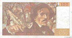 100 Francs DELACROIX imprimé en continu FRANCE  1991 F.69bis.03a1 pr.TTB