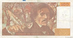 100 Francs DELACROIX imprimé en continu FRANCE  1991 F.69bis.03a2 TB