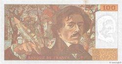 100 Francs DELACROIX imprimé en continu FRANCE  1991 F.69bis.04b pr.SUP