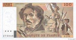 100 Francs DELACROIX imprimé en continu FRANCE  1993 F.69bis.05 NEUF