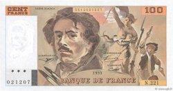 100 Francs DELACROIX imprimé en continu FRANCE  1993 F.69bis.07 pr.NEUF