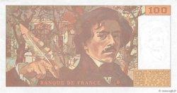 100 Francs DELACROIX imprimé en continu FRANCE  1993 F.69bis.07 SPL+