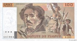 100 Francs DELACROIX imprimé en continu FRANCE  1993 F.69bis.08 pr.SPL