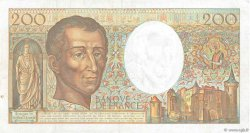 200 Francs MONTESQUIEU FRANCE  1991 F.70.11 TTB