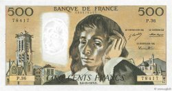 500 Francs PASCAL FRANCE  1973 F.71.10 SUP+