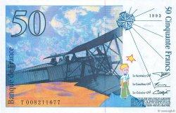 50 Francs SAINT-EXUPÉRY FRANCE  1993 F.72.02 NEUF