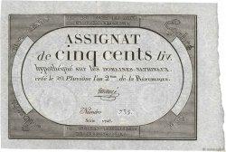 500 Livres FRANCE  1794 Ass.47a SPL