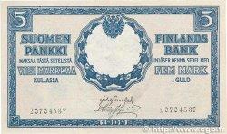 5 Markkaa FINLANDE  1909 P.020 SPL+